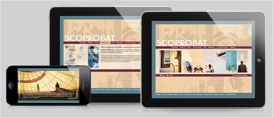 Direction Artistique, Design Web - SCOPROBAT